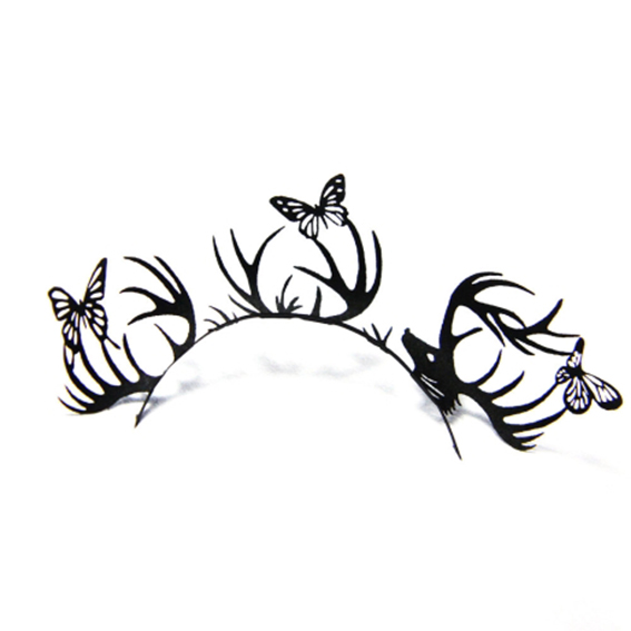 paperself-deer-butterfly-lashes